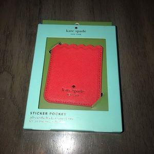 Kate Spade iPhone Sticker Pocket